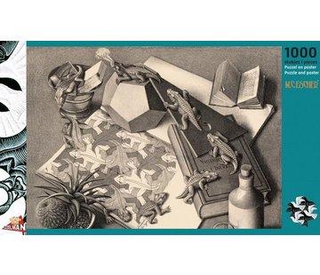 Puzzelman Reptielen - M.C. Escher Puzzel 1000 Stukjes