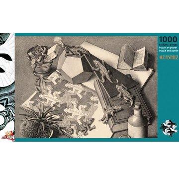 Puzzelman Reptiles - M.C. Escher 1000 Puzzle Pieces