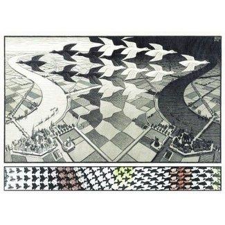 Puzzelman Day and Night - M.C. Escher Puzzel 1000 Stukjes
