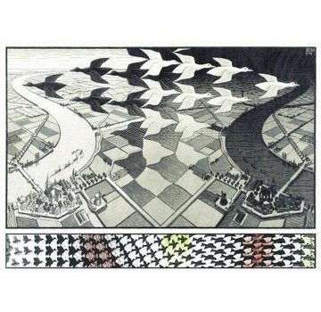 Puzzelman Day and Night - M.C. Escher 1000 Puzzle Pieces