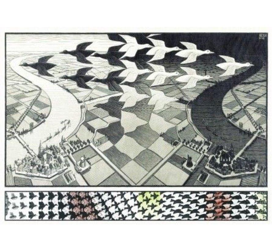 Day and Night - M.C. Escher Puzzel 1000 Stukjes