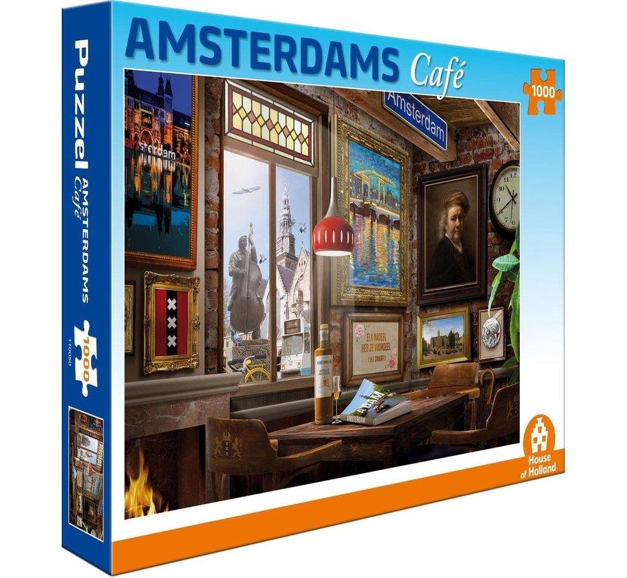 Amsterdams Café Puzzel 1000 Stukjes