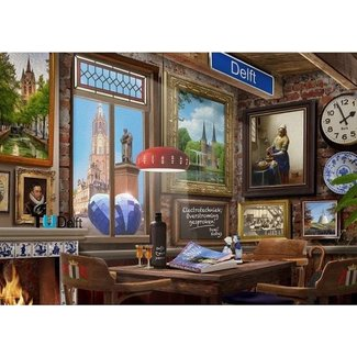 House of Holland Delfts Café Puzzel 1000 Stukjes