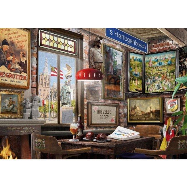 House of Holland Bossch Café Puzzel 1000 Stukjes