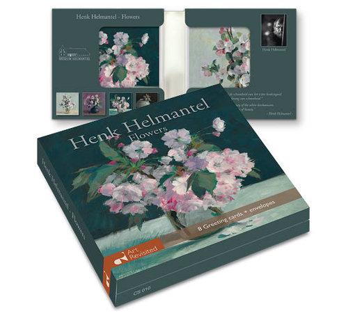 Art Revisited Kaartenmapje Henk Helmantel- Flowers 8 kaarten