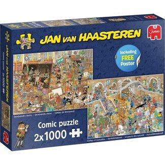 Jan van Haasteren Jan van Haasteren - Une journée au musée 2 x 1000 Puzzle Pieces