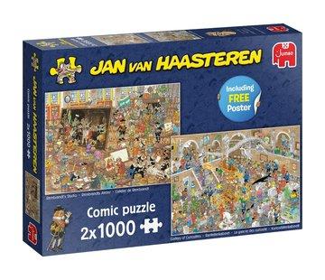 Jan van Haasteren Jan van Haasteren – Een dagje naar het Museum Puzzel 2x 1000 Stukjes