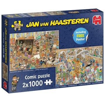 Jumbo Jan van Haasteren - A Day at the Museum 2x 1000 Puzzle Pieces