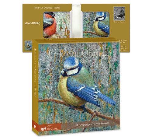 Art Revisited Kaartenmapje Erik van Ommen – Birds 8 Stuks