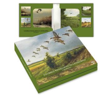 Comello Kaartenmapje Rien Poortvliet Natuur – Vogels 8 Stuks