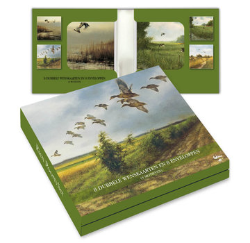 Comello Notecards Rien Poortvliet Nature - Birds 8 Pieces