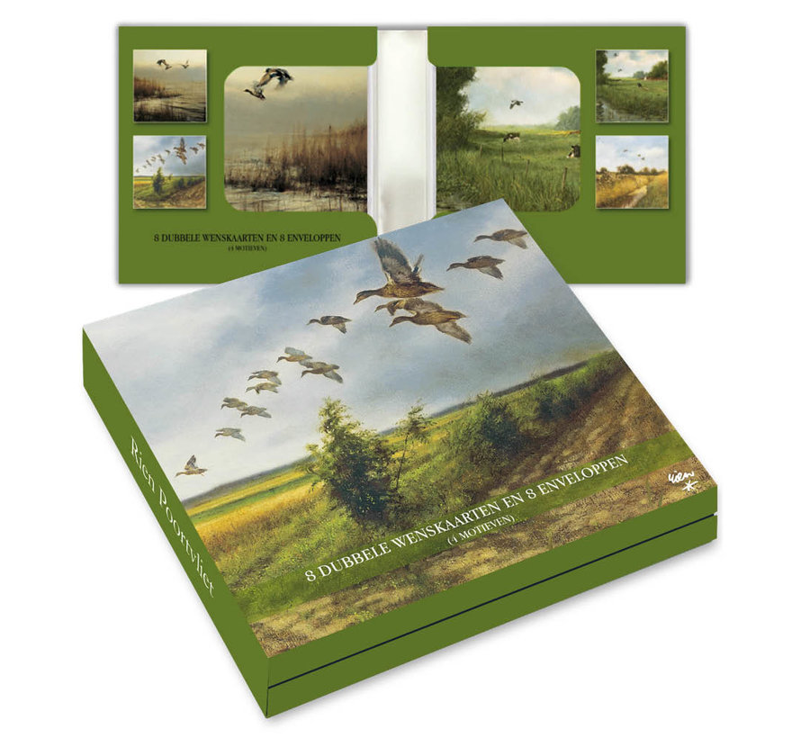 Notecards Rien Poortvliet Nature - Birds 8 Pieces