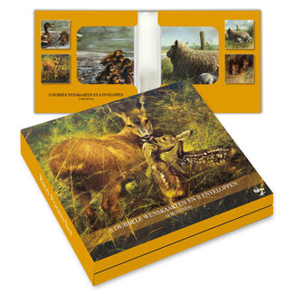 Comello Notecards Rien Poortvliet Nature - Animals Young 8 Pieces
