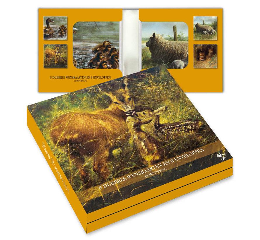 Notecards Rien Poortvliet Nature - Animals Young 8 Pieces