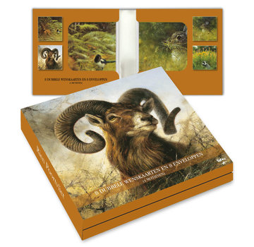 Comello Notecards Rien Poortvliet Nature - Wild 8 Pieces