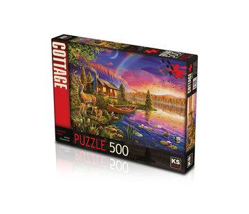 KS Games Lakeside Cabin Puzzel 500 Stukjes