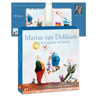 Art Revisited Kaartenmapje Marius van Dokkum – Age is a matter of mind 8 Stuks