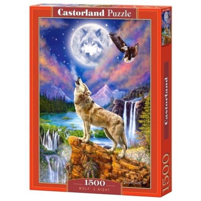 Castorland Wolf Nacht Puzzle 1500 Stück