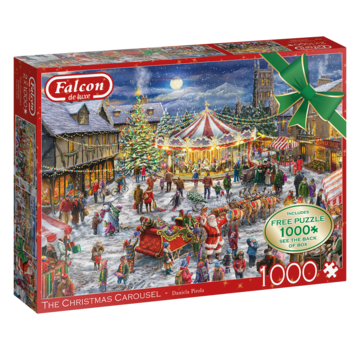 Falcon The Christmas Carousel Puzzel 2x 1000 Stukjes