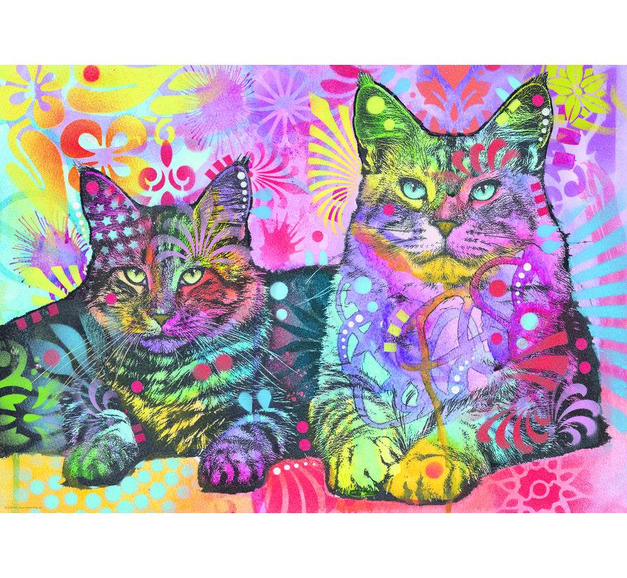 Dean Russo Devoted 2 Cats Puzzel 1000 Stukjes