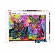Heye Dean Russo Devoted 2 Cats Puzzel 1000 Stukjes