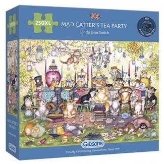 Gibsons Mad Catter's Tea Party Puzzel 250 XL