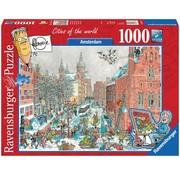 Ravensburger Amsterdam in Winter - Fleroux Puzzel 1000 Stukjes