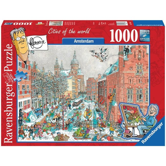 Amsterdam im Winter - Fleroux 1000 Puzzle Pieces