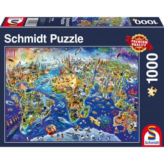 Schmidt Puzzle Ontdek onze Wereld Puzzel 1000 Stukjes