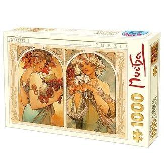 Dtoys Alphonse Mucha Puzzel 1000 Stukjes
