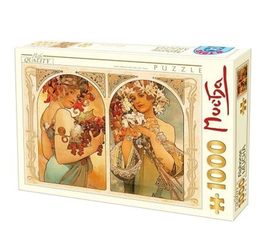 Alphonse Mucha Puzzel 1000 Stukjes