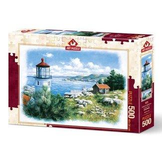 Art Puzzle Seafront Lighthouse Puzzel 500 Stukjes