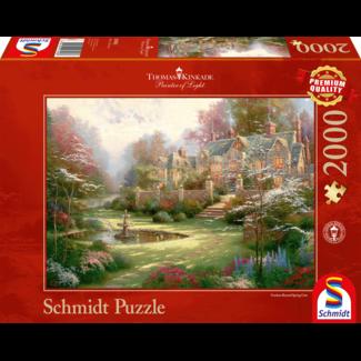 Schmidt Puzzle Gardens Jenseits Frühling Tor Puzzle 2000 Stück