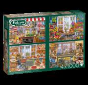 Falcon Vos boutiques préférées Puzzle Pieces 4x 1000