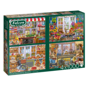 Falcon Your Favourite Shops Puzzel 4x 1000 Stukjes