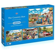 Gibsons The Country Bus Puzzle 4x 500 Pieces