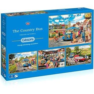 Gibsons Das Land Bus Puzzle 4x 500 Stück