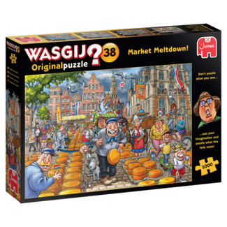 Jumbo Wasgij Original 38 Market Meltdown Puzzle 1000 pieces