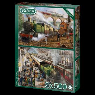 Falcon Mail by Rail Puzzel 2x 500 Puzzel Stukjes