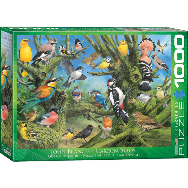 Eurographics Garden Birds - Joahn Francis Puzzel 1000 Stukjes