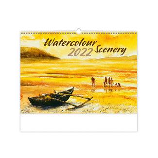 Helma Wandkalender 2022 Aquarell-Landschaften 45 x 31,5 cm