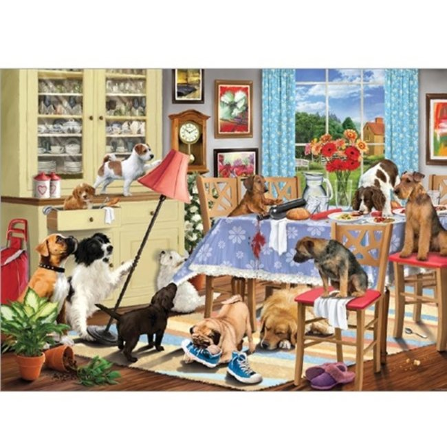 Otterhouse Dogs in the Dining Room Puzzel 1000 Stukjes