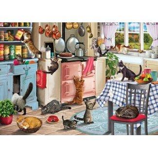 Otterhouse Cats In The Kitchen Puzzel 1000 Stukjes
