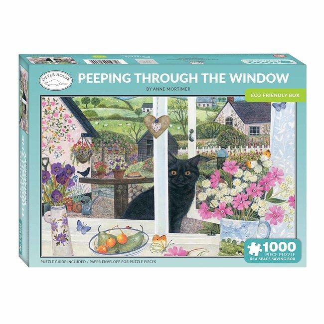 Otterhouse Peeping Through the Window Puzzel 1000 Stukjes