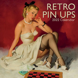 The Gifted Stationary Retro Pin-Up Calendar 2022