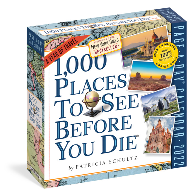 1000 Places to see before you die Kalender 2022 Boxed