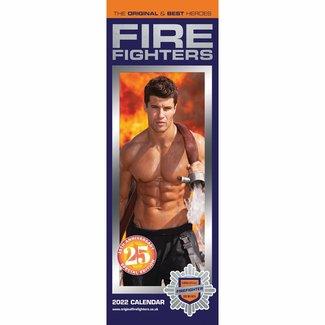 CarouselCalendars Fire Fighters Kalender 2022 Slimline