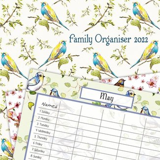 The Gifted Stationary Birdsong Family Planner 2022