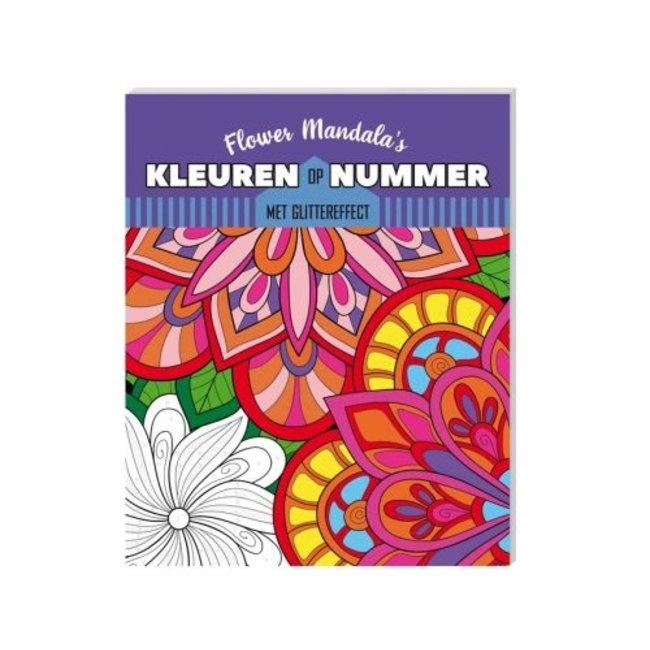 Inter-Stat Kleuren op nummer Kleurboek Flower Mandala's
