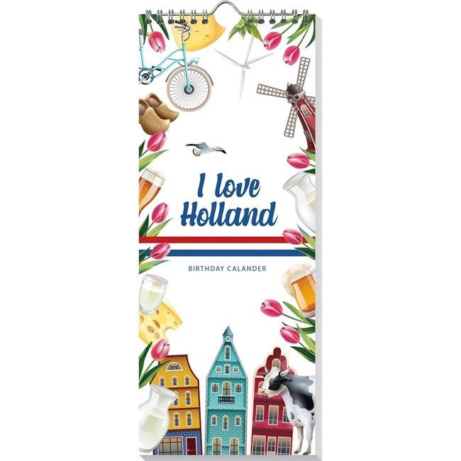 I Love Holland Birthday calendar